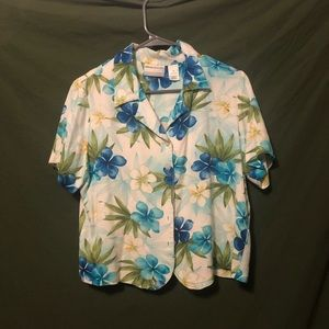 Cropped Hawaiian shirt